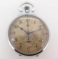 .Rare 1940s Seiko Seikosha Naval Chronograph Pocket Watch Nice Patina & Serviced