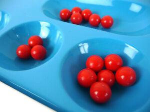 Spare Parts : 5x Red Mancala Stones / KALAHA Balls / Game Beads Replacement