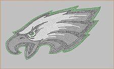 PHILADELPHIA EAGLES Inspired Logo Fan Art Rhinestone Iron On Transfer Bling