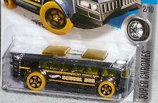 2016 HOT WHEELS High School Bus Col. #37/250 NEW Super Chromes