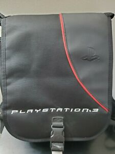 Playstation 3 Padded Backpack Black Nylon PS3 Storage Travel Bag Carrying Case