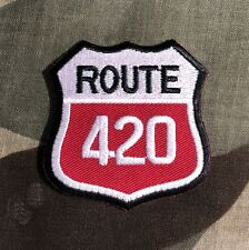 Route 420 Embroidered Patch R015P Weed Marijuana Americana Highway