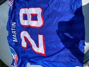CURTIS MARTIN  NFL logo PATRIOTS JERSEY sz 48 PSA DNA autograph  STARTER proline