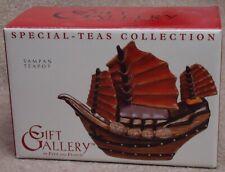 Fitz & Floyd Gift Gallery Special-Teas Collection ~ Sampan Mini Teapot ~ Mib/New
