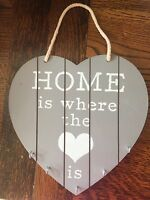 Key Holder Heart Home Is Where the Is Plaque Key Storage Hanging Wooden Shabby