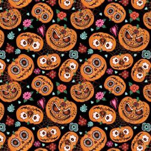 PUMPKINS 100% Cotton children's Print Dress Craft novelty Fabric