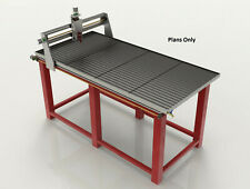new 2019 plans cnc plasma laser cutting table WORK 1140x2010mm water 3d model