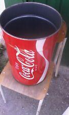 Bidone Coca Cola  in Latta Pouf Sgabello Vintage Pubblicitario SENZA COPERCHIO