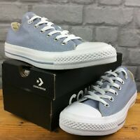 CONVERSE LADIES UK 6 EU 39 GREY CHAMBRAY PERFORATED TRAINERS ALL STAR AD