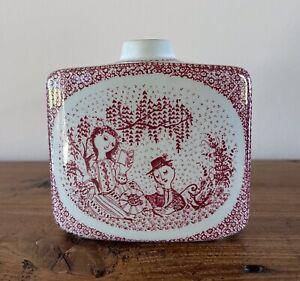 "Bjorn Wiinblad 3 3/4"" Tall Vase Nymolle Denmark Danish Pottery"