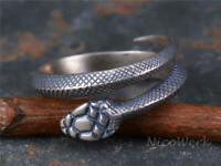Silberring Schlange Vintage Geschwärzt Schmal Ring Silber 925 Verstellbar Offen