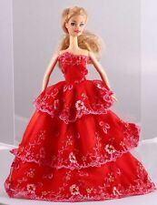Wholesale Handmade Red The original soft clothes dress for barbies doll 1098