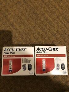 200 Accu-chek Aviva Plus Diabetic Test Strips Exp 11/21-12/21