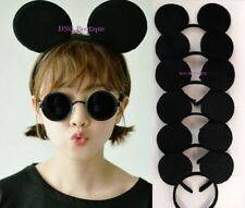 3 Mickey Mouse Ears Headband Black Party Disney Minnie Costume Favors Black One
