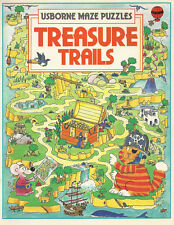 USBORNE MAZE PUZZLES TREASURE TRAILS by Kim Blundell and Jenny Tyler V. G. COND.