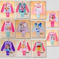 Girls Kids Baby Toddler Long Sleeve Disney Character Pyjamas set pjs 1.5-5 Yrs