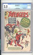 AVENGERS #6 CGC 2.5 1ST BARON ZEMO AND THE MASTERS OF EVIL