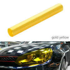 30*120cm Yellow Headlight Tint Film Fog Tail Light Tinting Car Van Wrap Sheet UK