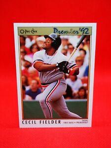 O-PEE-CHEE 1992 carte card Baseball MLB NM+/M Detroit Tigers #70 Cecil Fielder