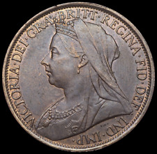 GREAT BRITAIN. Queen Victoria, Veiled Head Penny, 1897