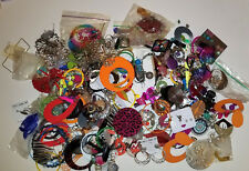 Large Lot Of Vintage To Modern Costume Jewelry Earrings About 4.5 Lbs