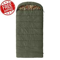 Ozark Trail North Fork 30F Flannel Hooded Sleeping Bag Overnight Camping Outdoor