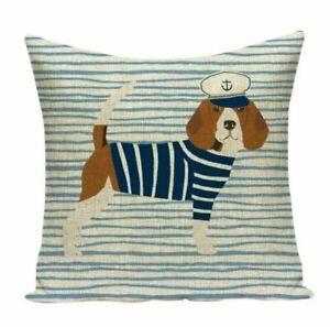 Beagle Dog Sailor Cushion Cover