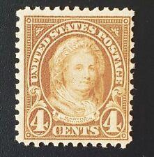 Us Stamps #636 – 1927 4c Martha Washington, yellow brown. Mint Nh Og. F/Vf