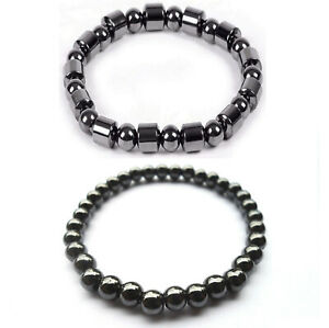 New Magnetic Bead Hematite Bracelet Anklet Necklace Pain Relief Therapy Slimming