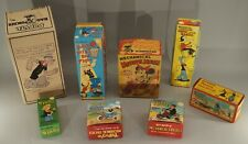 Reproduction Empty Display Boxes Of Antique Popeye & Minnie Mouse Toys Lot Of 8