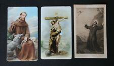 3 Images pieuse holy cards Saint François d'Assise