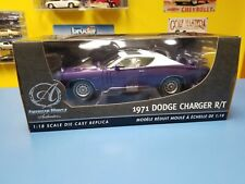 ERTL  AUTHENTIC AMERICAN MUSCLE 1971 DODGE CHARGER R/T PURPLE  & WHITE  NEW