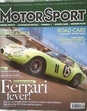 Motorsport Magazine October 2010 Ferrari 250GTO Robert Kubica, Martin Donnely