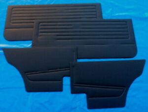 Türverkleidung Türpappen VW Golf 1 schwarz 4 tlg GTI 3 Türer Seitenverkleidung