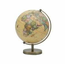 CONTEMPORARY VINTAGE STYLE SMALL GLOBE ON METAL BASE ATLAS TABLE DESK ORNAMENT