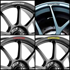 FORD RS Rims Alloy Curved Decals Stickers Sport Focus Fiesta for 16 17 18 Wheels