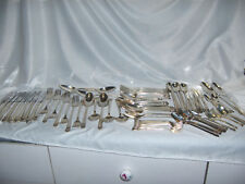 Vintage 80 Pc Set 1847 Rogers IS Eternally Yours Silver Plate Flatware NICE