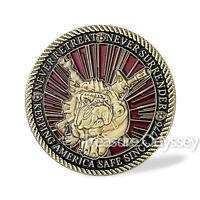 Marine Corps Challenge Coin Semper Fidelis Devil Dog USMC Military Featured Gift