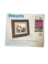 "Philips 8"" LCD Digital Photo Frame In Mahogany Brown w/ Remote SPF3408T/G7"