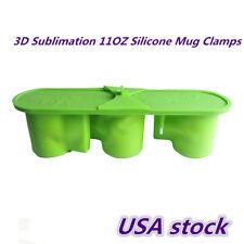 US stock-3D Sublimation 11OZ Silicone Mug Clamps, Silicone Mug Mold Mug Wrap