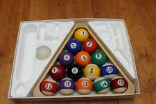 "Sportcraft Billiard Accessory Kit with 15 2.25"" Diameter Balls + Cue Ball & Rack"