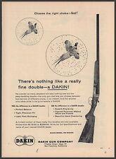1957 DAKIN Double Barrel Over Under Shotgun PRINT AD