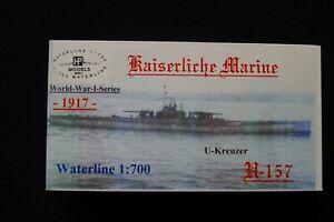 HP Models 1:700  WL   U-Kreuzer   U-157 der Kaiserlichen Marine -1917-