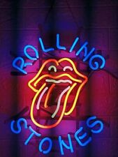 "New Rolling Stones Neon Light Sign 17""x14"" Beer Bar Windows Artwork Glass"