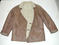 Men's Shearling Vintage 1970's Romagnoli Italian Leather Jacket SZ:48 EUR/38 USA