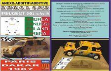 ANEXO DECAL 1/43 PEUGEOT 205 TURBO A.ZANUSSI PARIS DAKAR 1987 DnF (12)