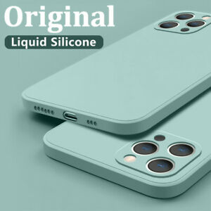 For iPhone 12 Pro Max 11 XR X XS 8 7 Plus SE 2 Liquid Silicone Soft Case Cover