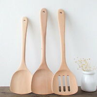 Non-stick Wooden Spatula Special Cooking Utensil Kitchen Appliances Solid Color.