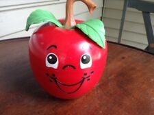 Vintage Fisher Price Happy Apple Roly Poly Chime Toy LONG Stem 1972