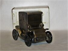 1910 Baker Electric Auto Coin Bank Banthrico Chicago, ILL.1974 Metal w Key & Box